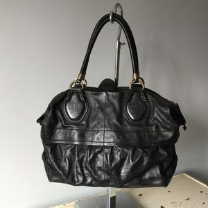 Tod's Black Leather Top Handle Bag